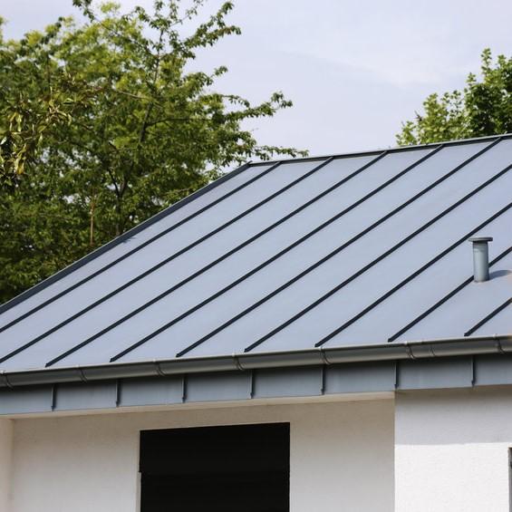 grey metal roofing