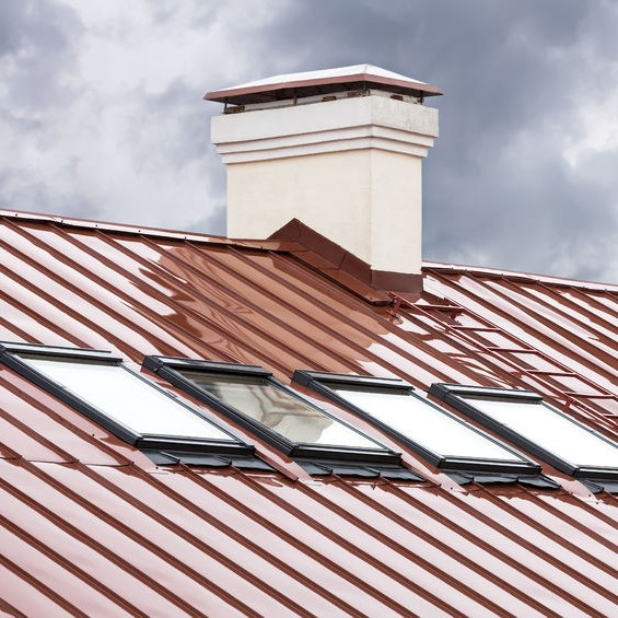 metal roofing  roof with shingles