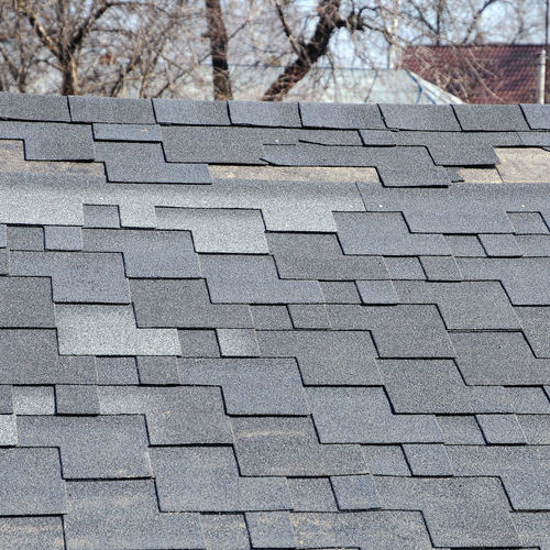 Loose or damaged shingles can be repaired as a temporary fix to a roof leak.