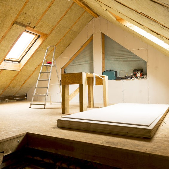 fully insulated attic and roof space